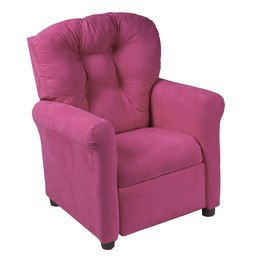 Crew Furniture 649630 Traditional Child Recliner Magenta