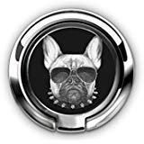 (Cell Phone Ring Holder Stand, Phone Grip Car Mounts 360 Degree Rotation Finger Ring Stent Compatible iPhone X 8 7 6 Plus, Samsung Galaxy and Tablets - French Bulldog with Sunglasses)