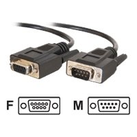 C2G 1ft DB9 M/F Extension Cable - Black /DB-9 Male Serial - DB-9 Female Serial - 1ft / 25211 /