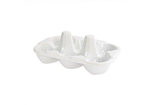 American Atelier Ceramic Egg Crate, White