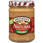 Smuckers Natural Peanut Butter Chunky 16 OZ (Pack of 24)