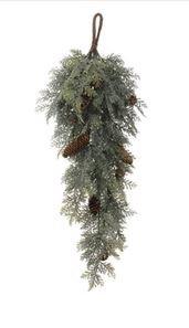 Iced Cedar Swag Sage Green 29.5''