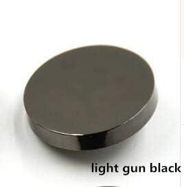 RTYW ミシンアクセサリー工芸色の衣類のブトンの幻想曲のbotonesのための金属の装飾的なボタン:シルバーゴールドブラック (Color : Light gun black, Size : 15mm)
