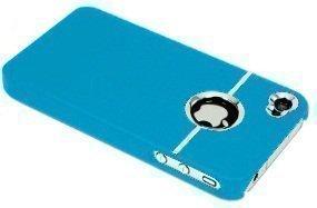 avci Base TPU Bumper Coque de protection pour Apple iPhone 4/4S Chrome Baby Bleu