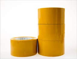 New-Height 3-inch Wide,110 Yards, Heavy Duty 2.0 mil Packaging Tape, Yellow Color, 4 Rolls, Ultra Strong, Designed for Packing, Shipping and Mailing, Guaranteed to Stay Sealed, 3 Inch Core