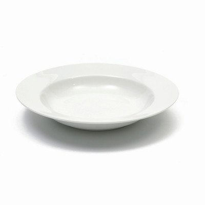 Pasta Plate Rimmed (Maxwell and Williams Basics Rim Soup Bowl, 9-Inch, White)