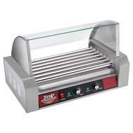 Great Northern Top Dawg Commercial 7 Roller Stainless Steel Hot Dog Machine With Cover
