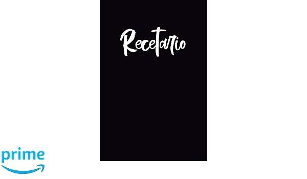 Recetario: Libreta a rayas pequeña, libro de recetas en blanco para escribir. Regalo original perfecto para hombre, mujer.