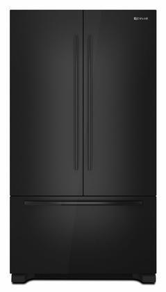 counter depth black french door