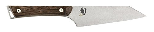 Shun Kanso 5-Inch Asian Multi-Prep Knife; Stainless Steel Double-Bevel Blade and Contoured Tagayasan Handle Handcrafted in Japan with Heritage Finish and Triangular Shape for Easy Maneuvering