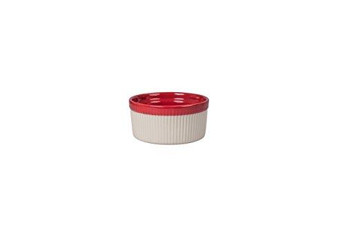 ro 4.5-Ounce Ramekin Dish, Set of 4, Sand/Spice Red (Bia Cordon Bleu Stoneware Bowls)