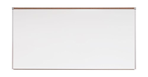 Norwood Commercial Furniture Heavy-Duty Porcelain Steel Magnetic Dy Erase Board w/Aluminum Frame & Maprail 4' x (Magnetic Porcelain Dry Erase)