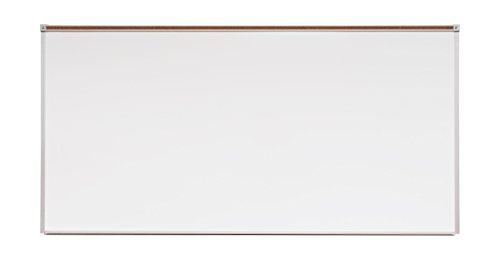 Porcelain Magnetic Whiteboard Steel (Norwood Commercial Furniture Heavy-Duty Porcelain Steel Magnetic Dy Erase Board w/Aluminum Frame & Maprail 4' x 8')