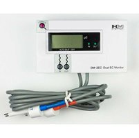 (HM DIGITAL DM-2EC Commercial Inline Dual ELECTRICAL CONDUCTIVITY EC Monitor for Industrial Water Filtration Systems, Car wash, Food Processing,More)