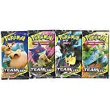 Sun Moon Team Up - Booster Pack Lot - 4 Sealed Packs