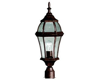 Kichler 9992TZ, Townhouse Aluminum Outdoor Post Lighting, 100 Total Watts, Tannery Bronze