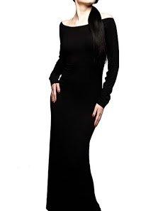 Lange schwarze gothic kleider