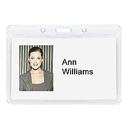 Baumgartens Plastic Badge Holder - Office Depot Plastic Badge Holders, 4in. x 2 3/4in, Horizontal, Pack Of 12, 67810