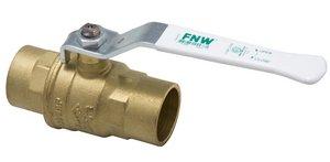 Fnw Valve Lf 1/2 Brs 600# Wog 2Pc Swt Fp Bv