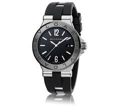 Bvlgari diagono - Reloj automático negro Dial negro caucho mnes dg42bscvd: Bvlgari: Amazon.es: Relojes