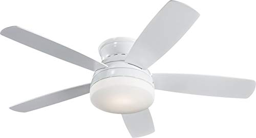 Monte Carlo 5TV52WHD Transitional 52``Ceiling Fan from Traverse Collection in White Finish, quot, See Image