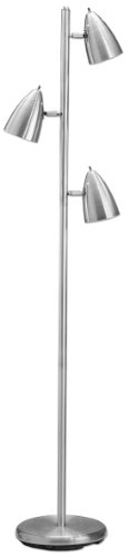 Lite Source LS-9406PS Bullets 3-Lite Floor Tree Lamp, Polished Steel (14 Light Transitional Floor Lamp)