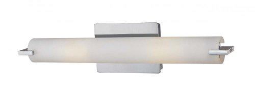 George Kovacs P5044-077-PL, Tube Glass Wall Vanity Lighting, 2 Light Fluorescent, Chrome (Fluorescent Lamp Wall)