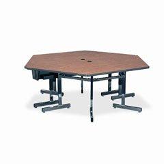 30h Gray Nebula Tables (Virco 8700 Series Trapezoid Activity Table, 60w x 30d x 30h, Gray Nebula)