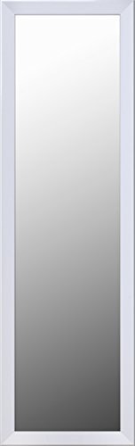 ArtMaison.ca Over-the-Door Hanging Wall Decorative Mirror with White Styrene Frame, 50-Inch by 14-Inch