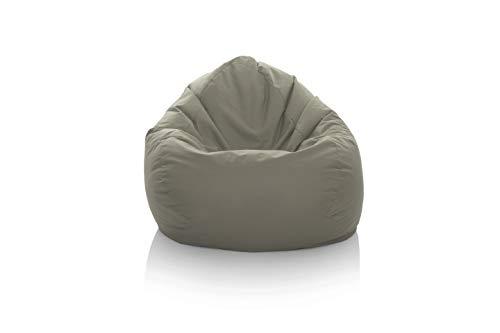 GlueckBean Gamer Pouf poire Tailles XXXL XXL XL Grande fauteuil de salon pour intérieur et extérieur Avec garnissage en polystyrène EPS, anthracite, XL-220
