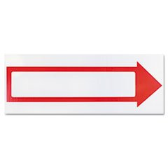 Stake Sign, 6 X 17, Blank White With Printed Red Arrow By: COSCO by Office Realm