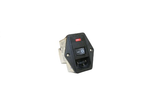Interpower 83545010 Five Function Screw Mount Module, C14 Inlet, Switch, Double Fused, Voltage Selector, Filter, 10A Current Rating, 120/250VAC Voltage Rating by Interpower