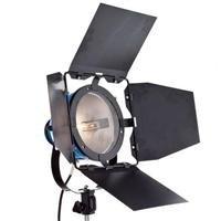 Flashpoint Bright Beam 800 watt Quartz Hot Light with Barn door-Dimmable - Blue
