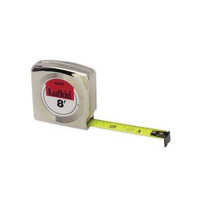 Tape Measure Mezurall Lufkin - Crescent Lufkin Mezurall W9212 Single Side Power Return Tape Measure, 1/2 in W x 12 ft L Blade, Steel, Imperial