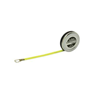 Lufkin Pocket Tape - Crescent Lufkin Executive W606PD Double Sided Diameter Pocket Tape Measure, 1/4 in W x 6 ft L Blade, Steel, Imperial
