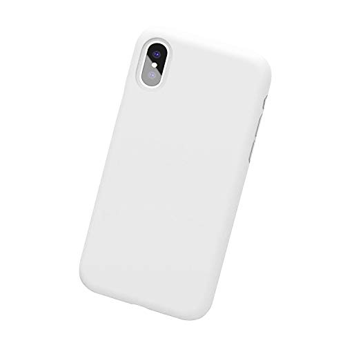 (Case for iPhone X iPhone Xs Max Case soft silicone ultra thin Shockproof Cover Protective Slim Fit Case for Apple iPhone Xs Max 6.5 inch (White, iPhone Xs Max case))