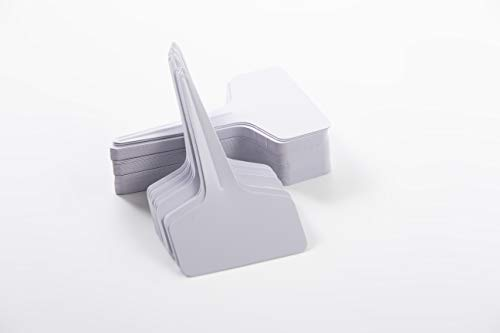 100 Pcs T Type Plant Labels PVC Material Waterproof for Seedling Patio Lawn Garden (White) (Patio Types Of)