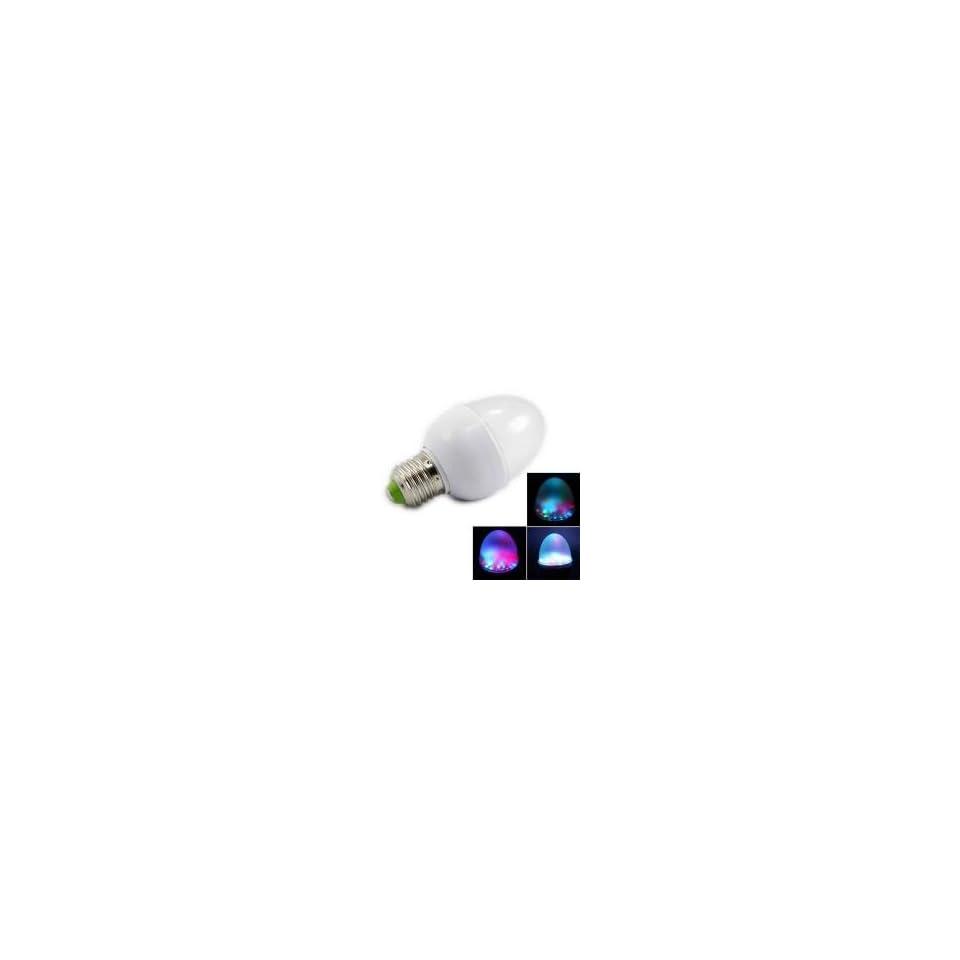 E27 2W 110V 6500K 7 Color RGB LED Light Bulb