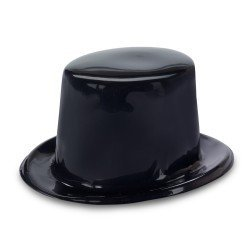 Wholesale Costume Top Hats (Fun Express Black Plastic Top Hats Party Favors - 12 Pieces)