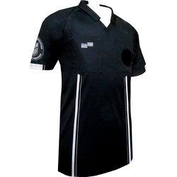 New USSF Men's Economy Soccer Referee SS Shirt (X-Large Black)