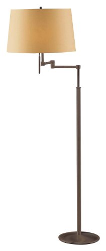 Holtkoetter 2541 HBOB KPRG Incandescent Swing Arm Floor Lamp, Hand-Brushed Old Bronze with Kupfer Shade