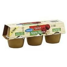 Gefen Natural Apple Sauce, 4 Ounce -- 12 per case. by Gefen