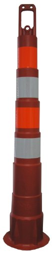Work Area Protection CC42 Linear Low Density Polyethylene Channelizer Traffic Cone with High Intensity Prismatic Reflective Sheeting, 6