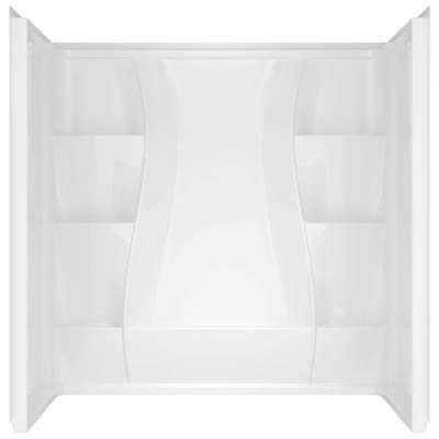 30 in. x 60 in. x 61 in. 3-piece Direct-to-Stud Tub Surround in High Gloss White (Shower Installation Kit Wall)