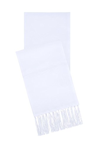 Men's Formal Satin Scarf (White)