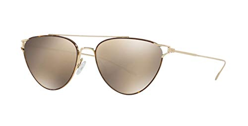 Oliver Peoples OV1225S - 52836G Sunglasses SOFT GOLD/DTBK  w/ TAUPE FLASH MIRROR Lens 56mm (Oliver Sunglasses Peoples)