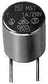 SCHURTER 0034.6609 FUSE, PCB, 250mA, 250V, TIME DELAY