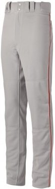 Mizuno Youth Select Pro Piped Pant (Grey/Red, (Select Piped Pant)