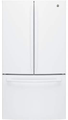 - GE 27 Cu.Ft. White French Door Refrigerator - GNE27JGMWW