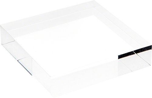 Plymor Brand Clear Polished Acrylic Square Display Block, 1